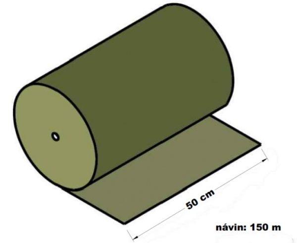 Lepenka vlnitá dvouvrstvá papírová 50 cm x 150 m