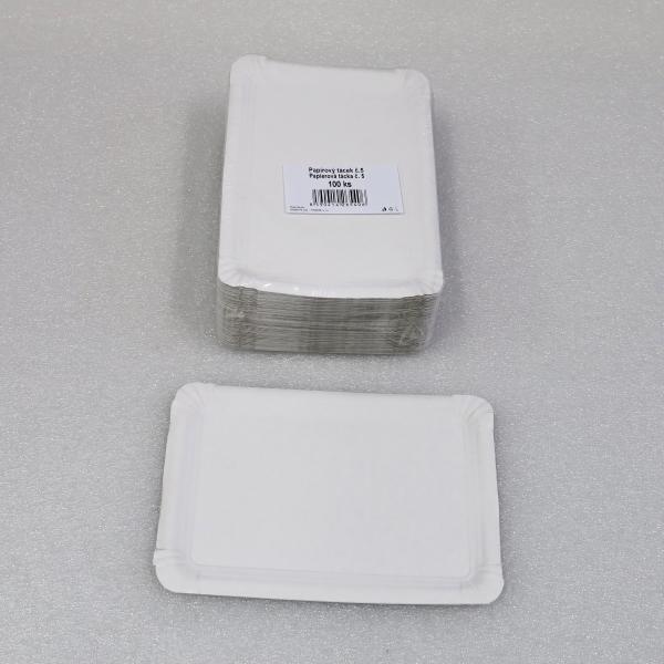 Tácek papírový č.4 13 x 20 cm po [100 ks]