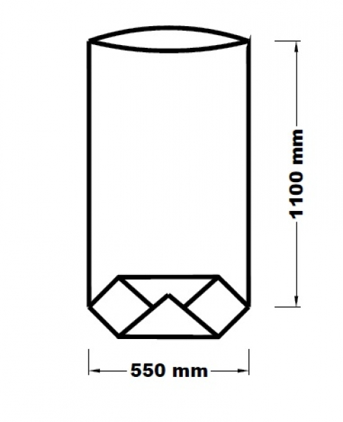 Papírový pytel 55x110cm 3vr