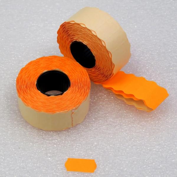 Etiketovací kotoučky - 26x12 CONTACT oranžový