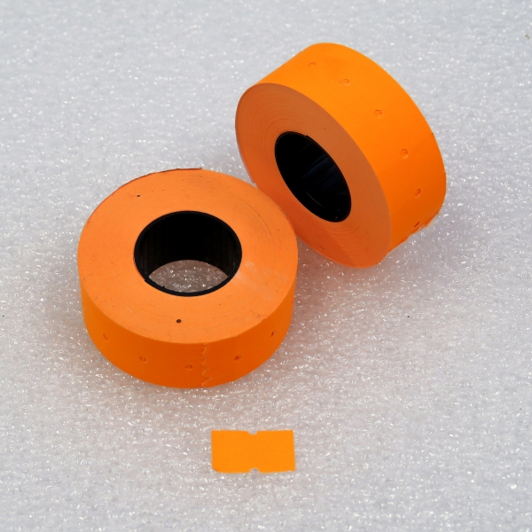 Etiketovací kotoučky - 22 x 12 oranžový