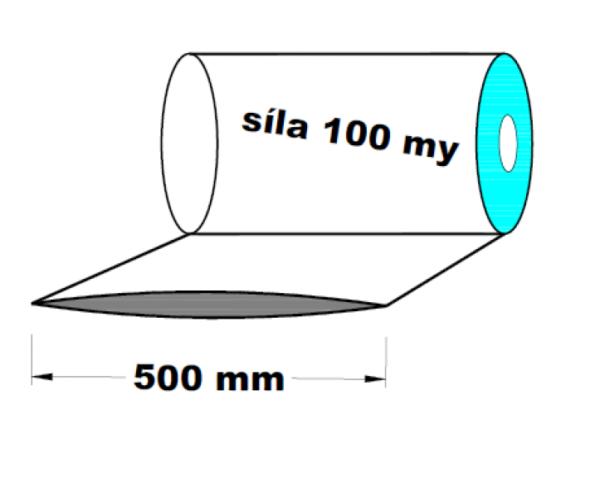 LDPE fólie hadice 1.A kvalita 500 mm 100 my 1 kg