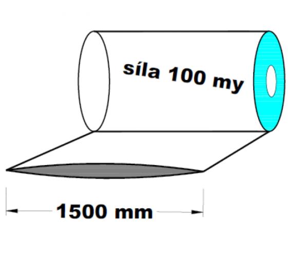 LDPE fólie hadice 1.A kvalita 1500 mm 100 my 1 kg