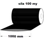 LDPE fólie hadice černá 1000 mm 100 my 1 kg