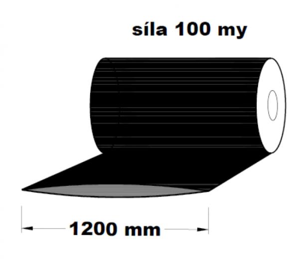 LDPE fólie hadice černá 1200 mm 100 my 1 kg