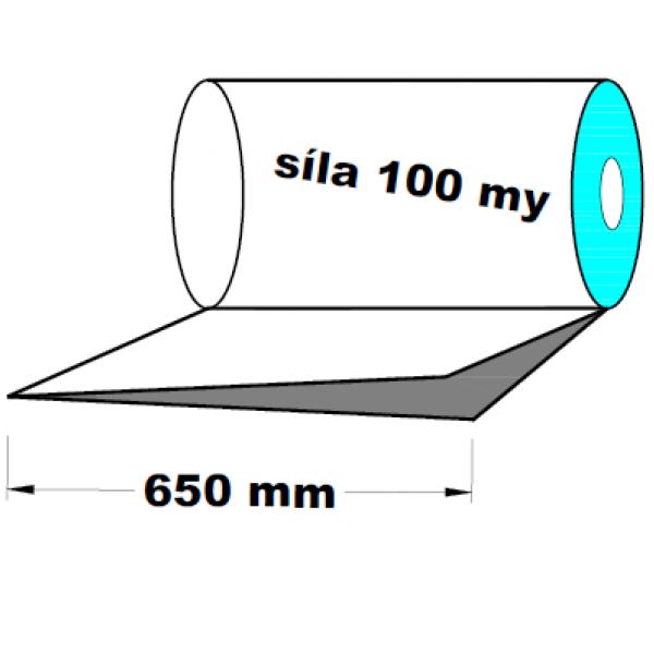 LDPE fólie polohadice 1.A kvalita 650 mm 100 my 1 kg