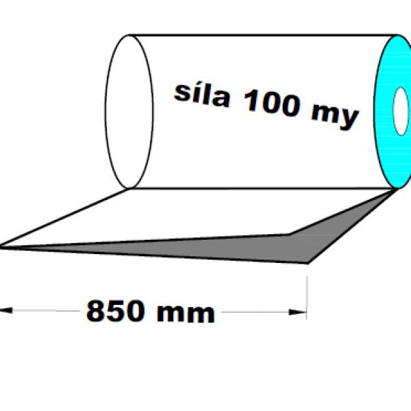 LDPE fólie polohadice 1.A kvalita 850 mm 100 my 1 kg