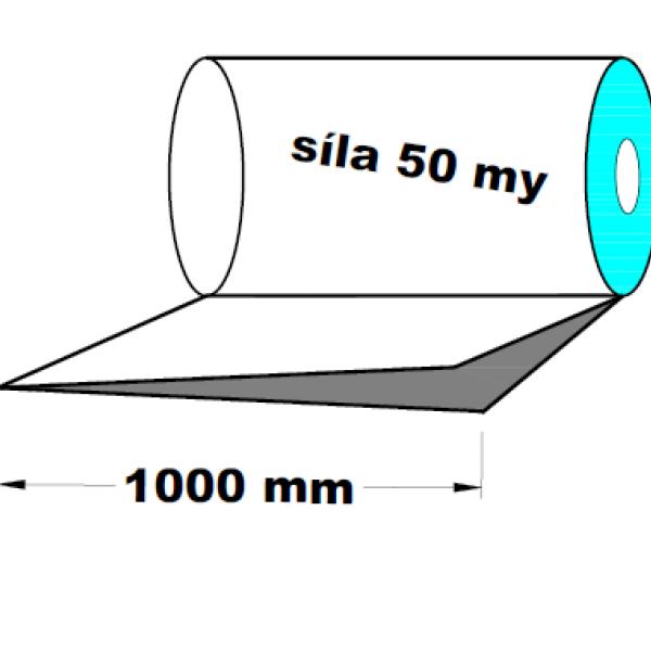 LDPE fólie polohadice 1.A kvalita 1000 mm 50 my 1 kg