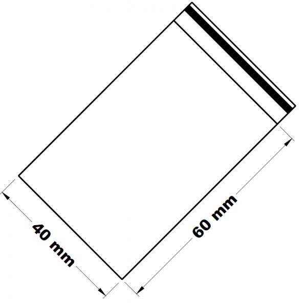 Uzavíratelné zip sáčky 4 x 6 cm [100 ks]