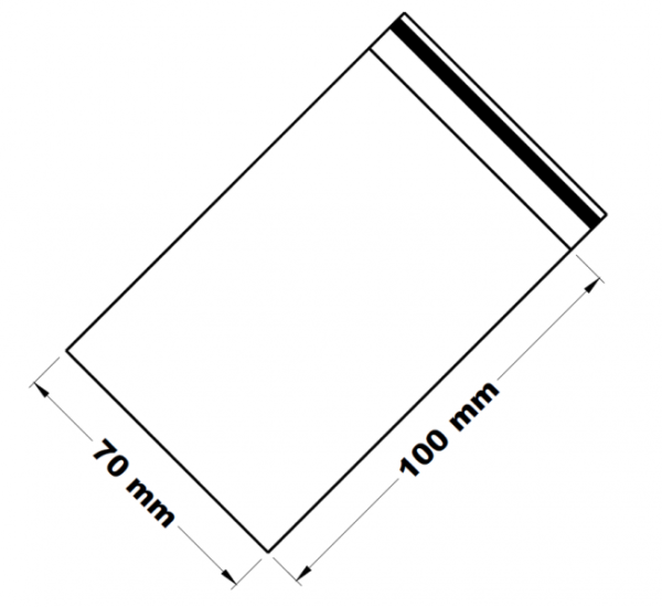 Uzavíratelné zip sáčky 7 x 10 cm [100 ks]