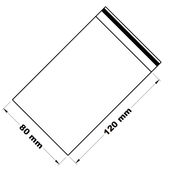 Uzavíratelné zip sáčky 8 x 12 cm [100 ks]