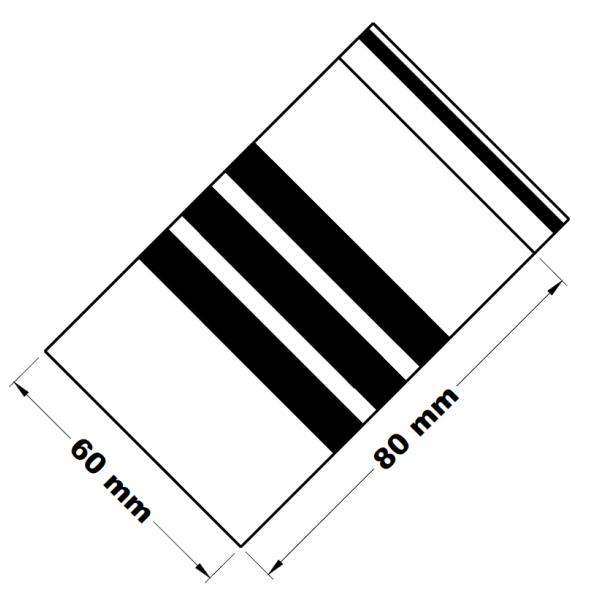 Rychlouzavírací sáčky s popisným pruhem 6 x 8 cm [100 ks]