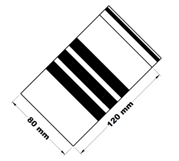 Rychlouzavírací sáčky s popisným pruhem 8 x 12 cm [100 ks]