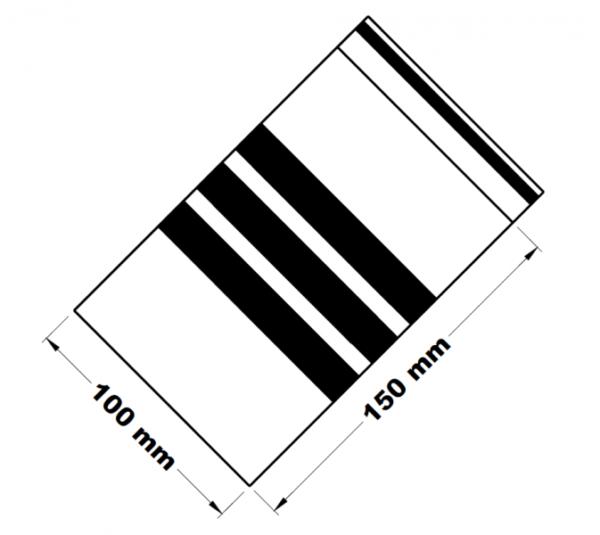 Rychlouzavírací sáčky s popisným pruhem 10 x 15 cm [100 ks]
