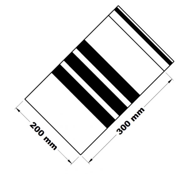 Rychlouzavírací sáčky s popisným pruhem 20 x 30 cm [100 ks]