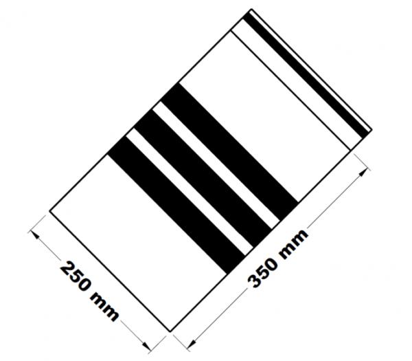 Rychlouzavírací sáčky s popisným pruhem 25 x 35 cm [100 ks]