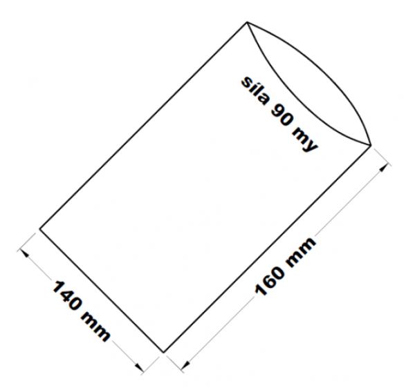 PE sáček transparentní 14 x 16 cm