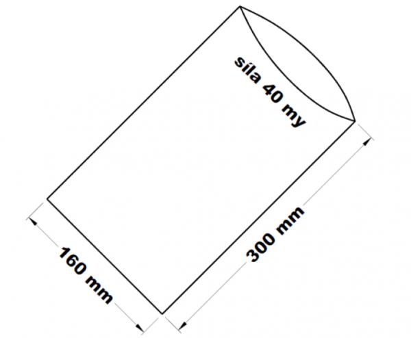 PE sáček transparentní 16 x 30 cm
