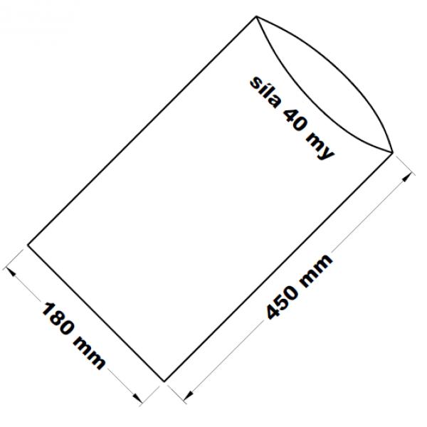 PE sáček transparentní 18 x 45 cm