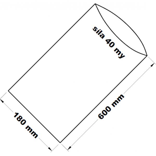 PE sáček transparentní 18 x 60 cm