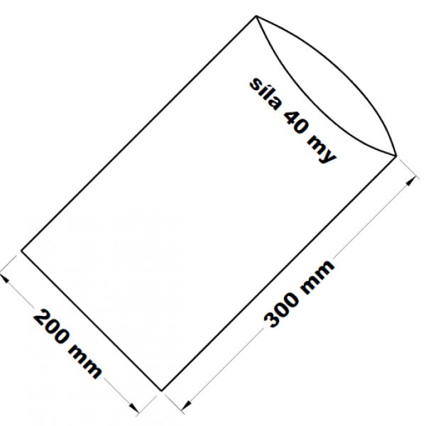PE sáček transparentní 20 x 30 cm
