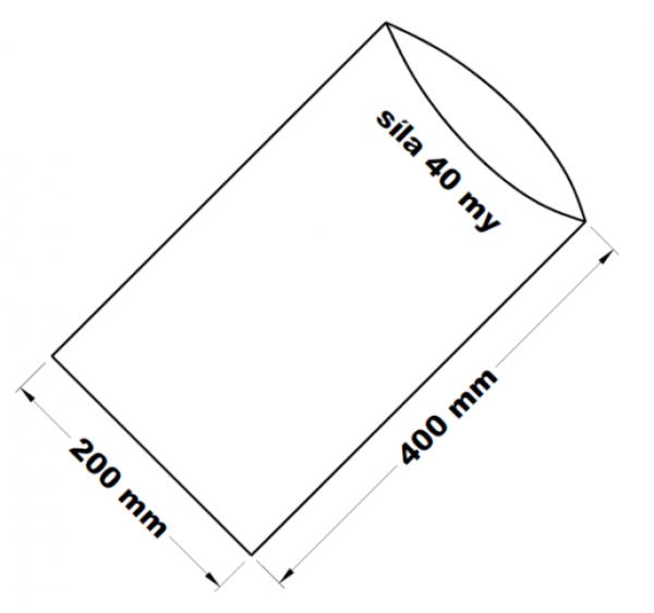 PE sáček transparentní 20 x 40 cm
