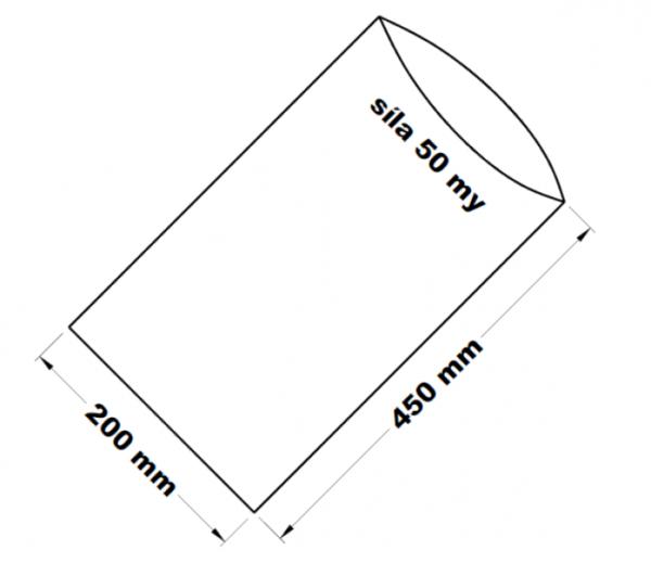 PE sáček transparentní 20 x 45 cm