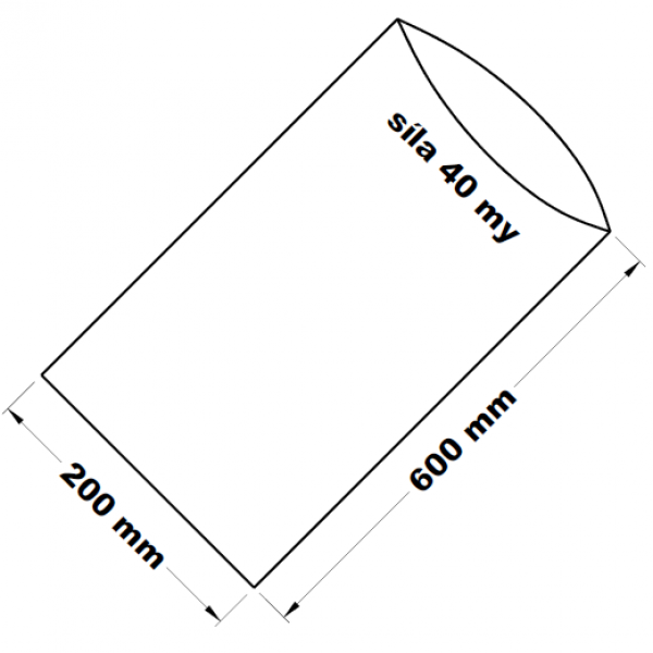 PE sáček transparentní 20 x 60 cm