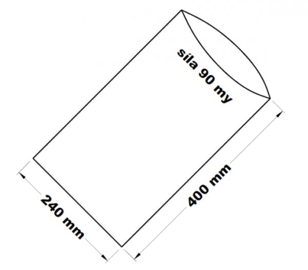 PE sáček transparentní 24 x 40 cm