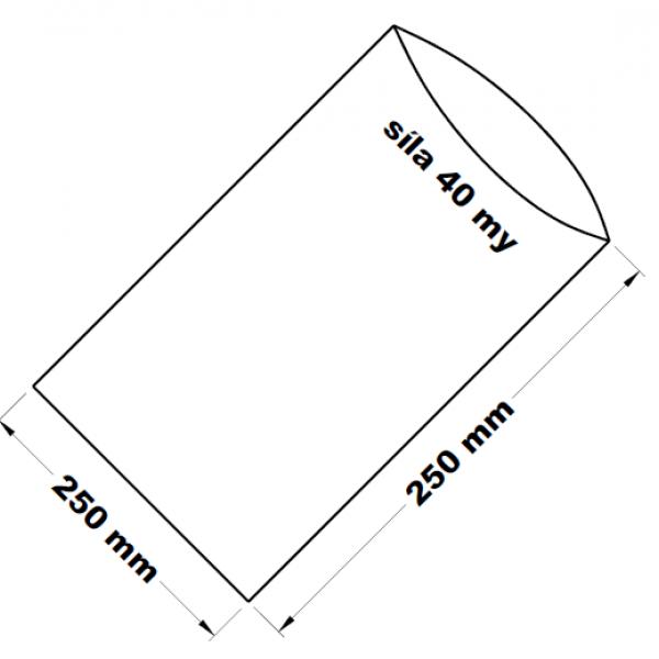 PE sáček transparentní 25 x 25 cm