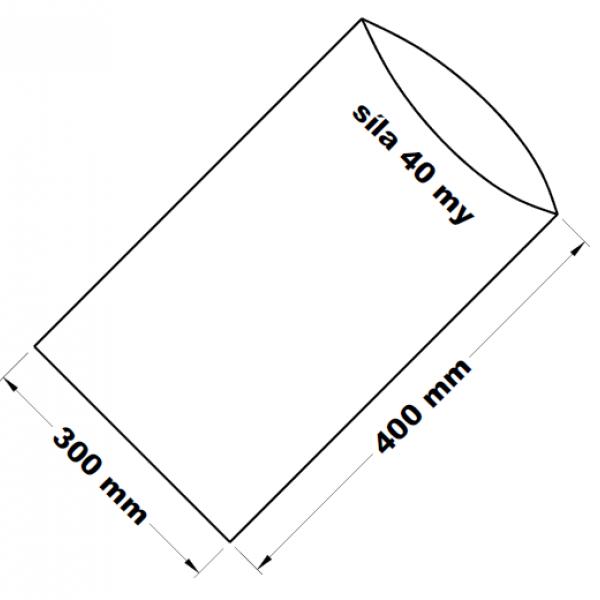 PE sáček transparentní 30 x 40 cm