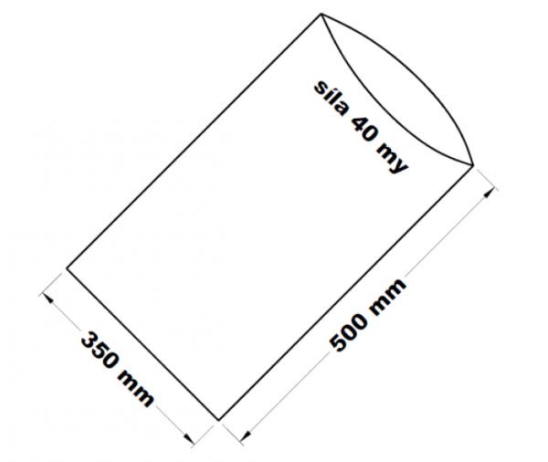 PE sáček transparentní 35 x 50 cm