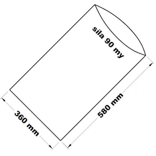 PE sáček transparentní 36 x 58 cm