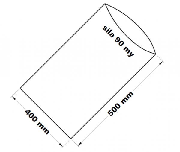 PE sáček transparentní 40 x 50 cm