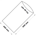 PE sáček transparentní 40 x 60 cm