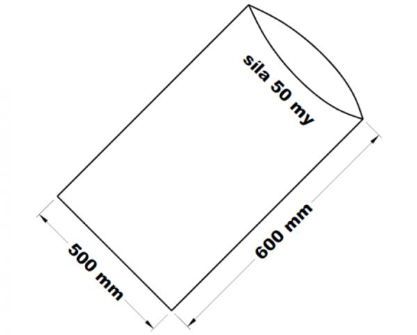 PE sáček transparentní 50 x 60 cm