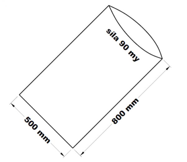 PE sáček transparentní 50 x 80 cm