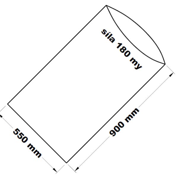 PE sáček transparentní 55 x 90 cm
