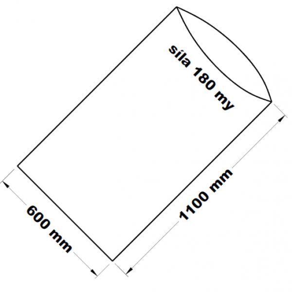 PE sáček transparentní 60 x 110 cm