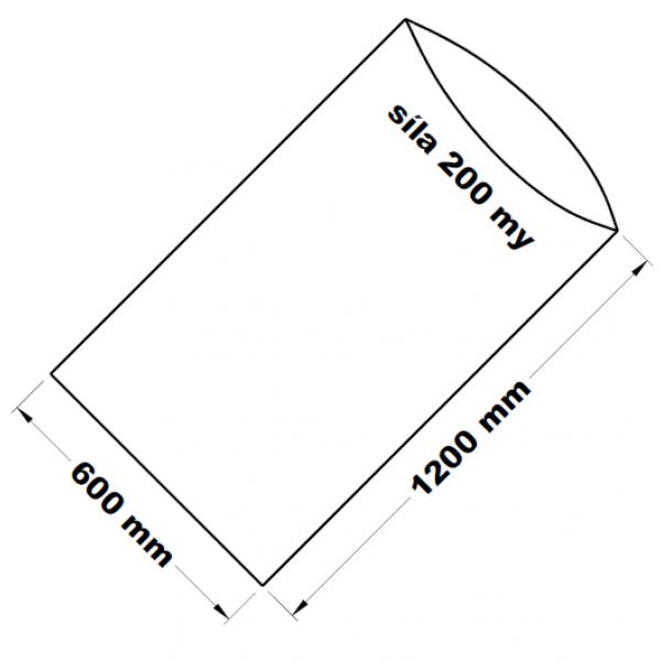 PE sáček transparentní 60 x 120 cm