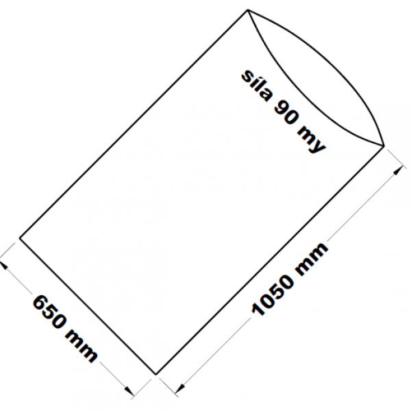 PE sáček transparentní 65 x 105 cm