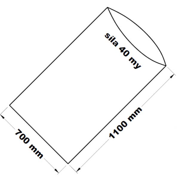 PE sáček transparentní 70 x 110 cm