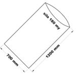 PE sáček transparentní 70 x 120 cm