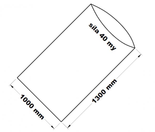 PE sáček transparentní 100 x 130 cm