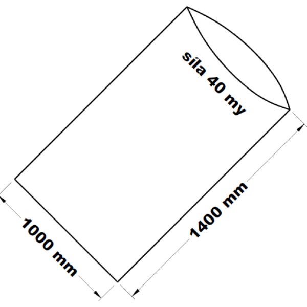 PE sáček transparentní 100 x 140 cm