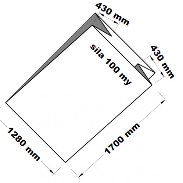 PE sáček transparentní paletizační 100 x 170 cm
