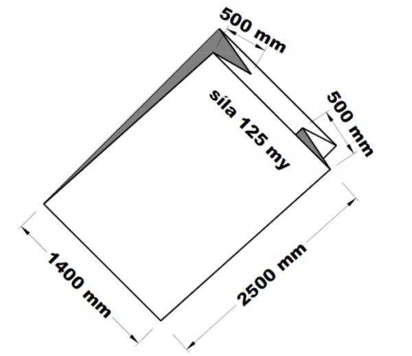 PE sáček transparentní paletizační 100 x 250 cm