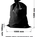 PE odpadový pytel černý - 1000 x 1200 mm