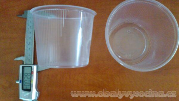 Wimex miska kulatá průhledná 400 ml