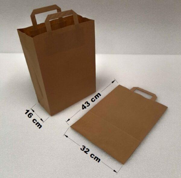 Papírová taška s uchem 35 x 16 x 43 cm